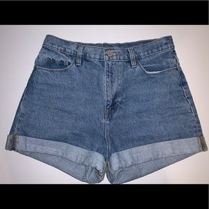 High Waisted BDG Denim Shorts